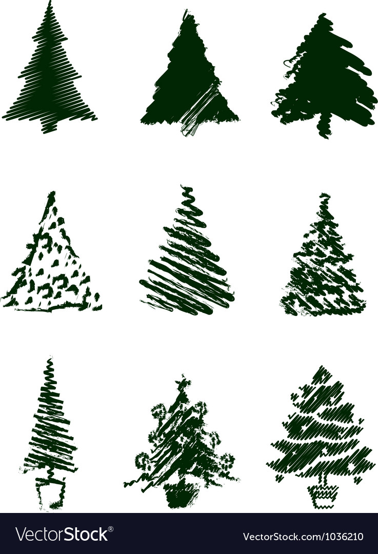 Christmas Tree Sketches