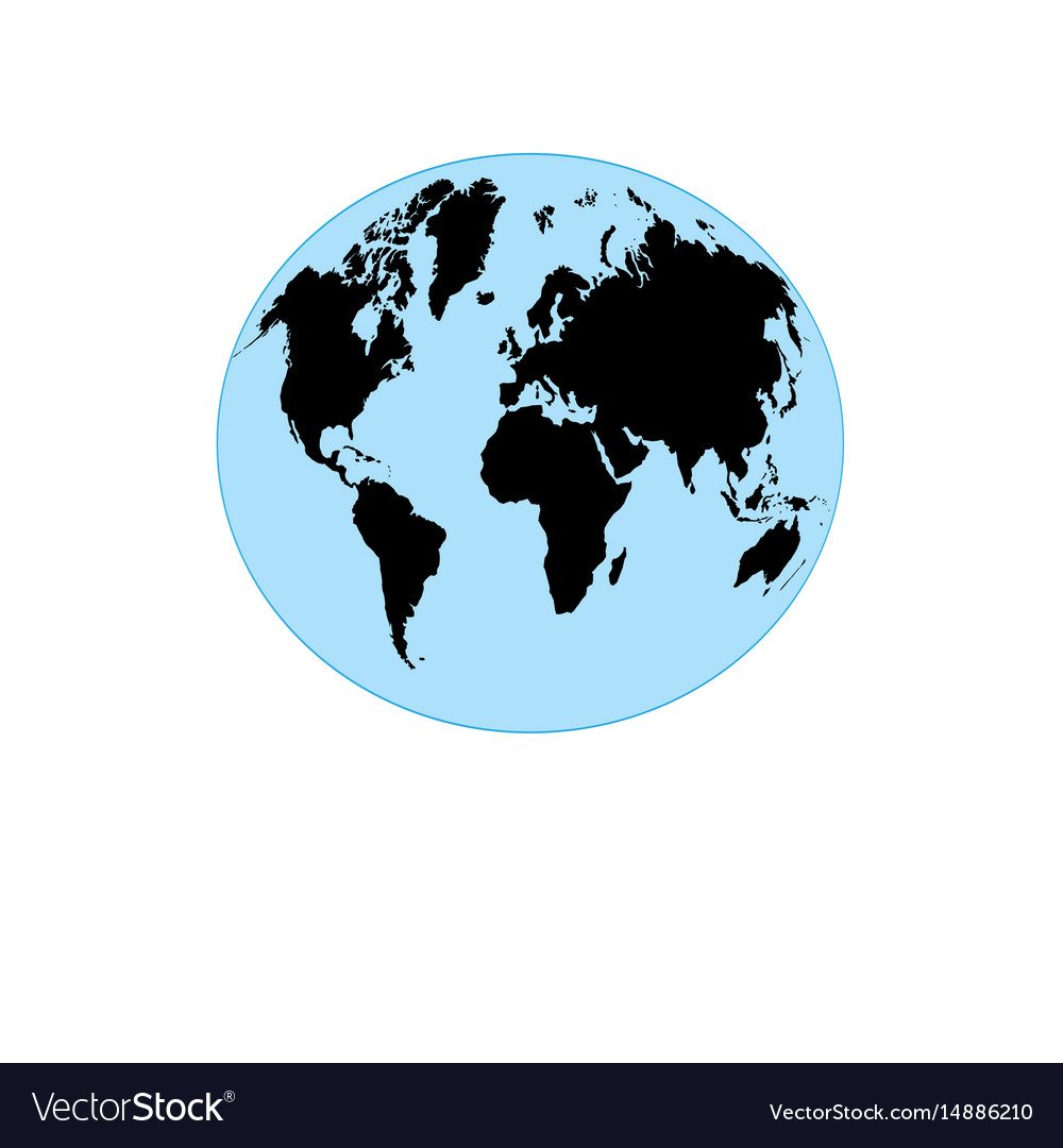 Graphic globe with map of the earth