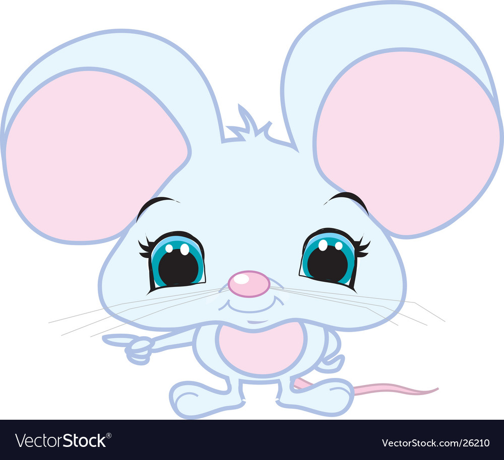 Pointing mouse vector image