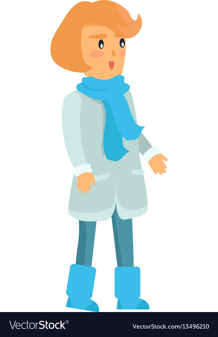 Surprised girl in warm winter clothes isolated