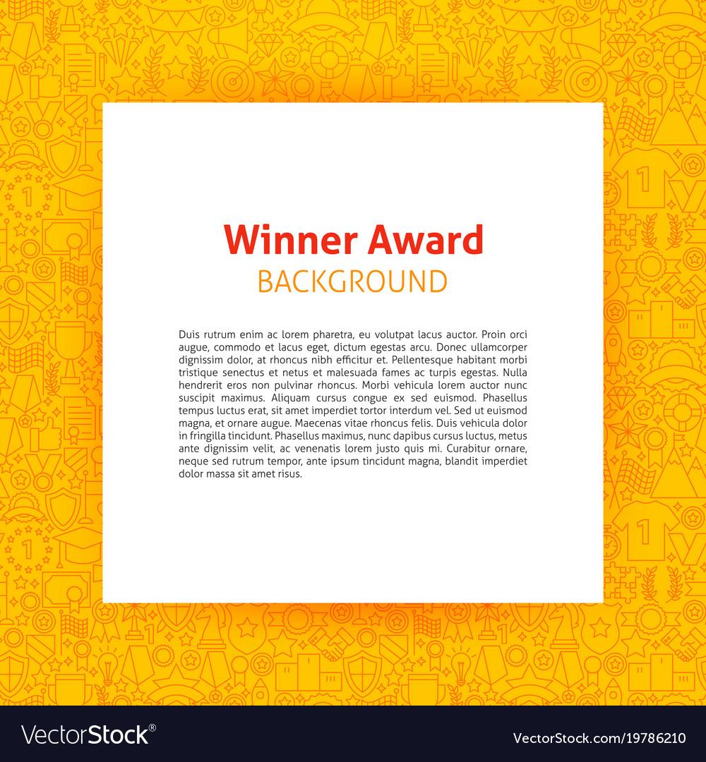winner award paper template vector image