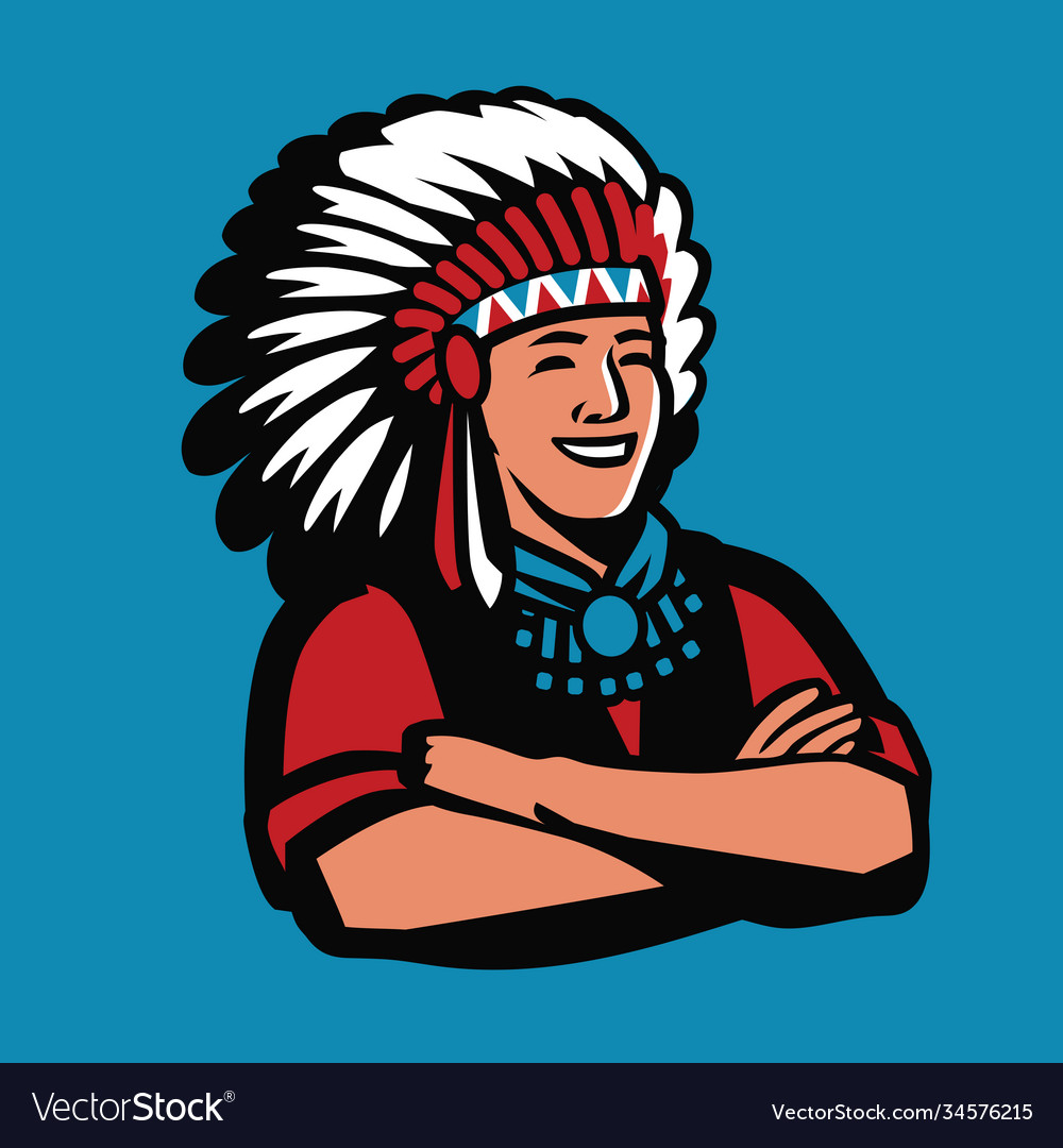 American indian chief symbol warrior mascot