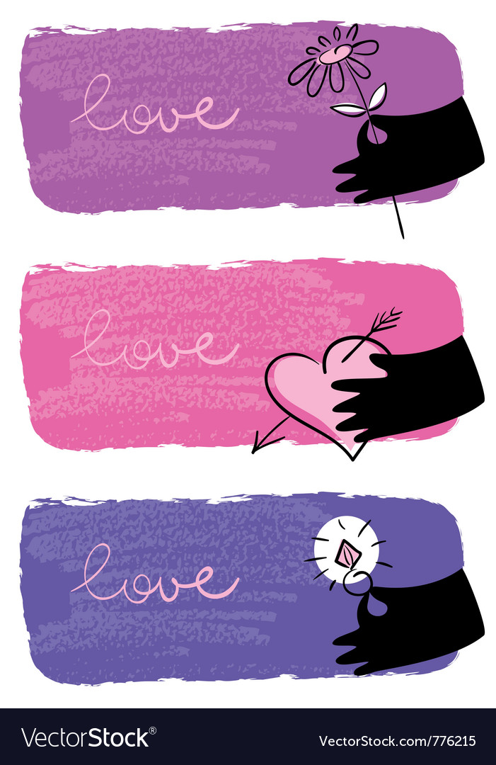 Banners of valentine day vector image