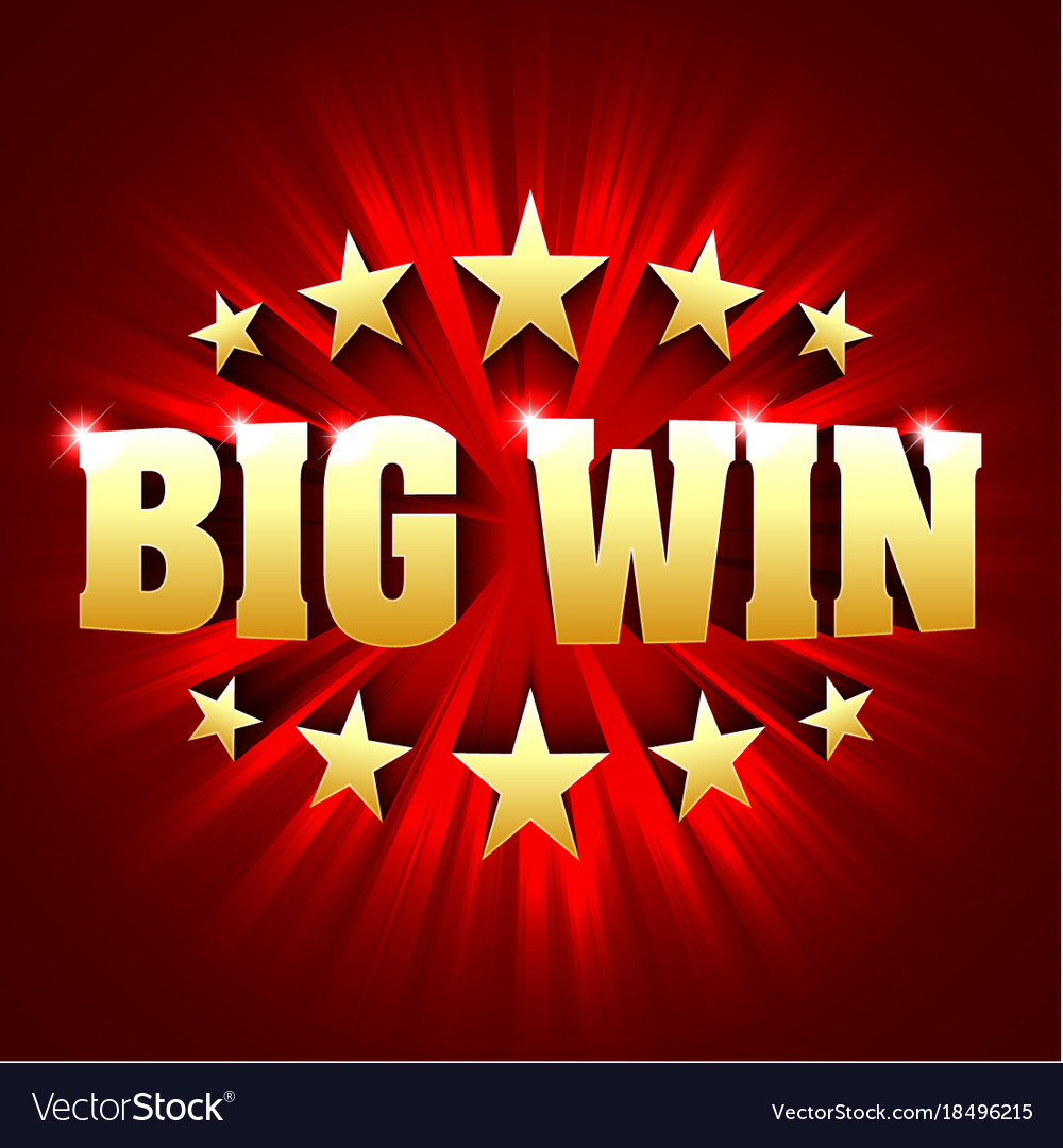 Big win banner background for lottery or casino