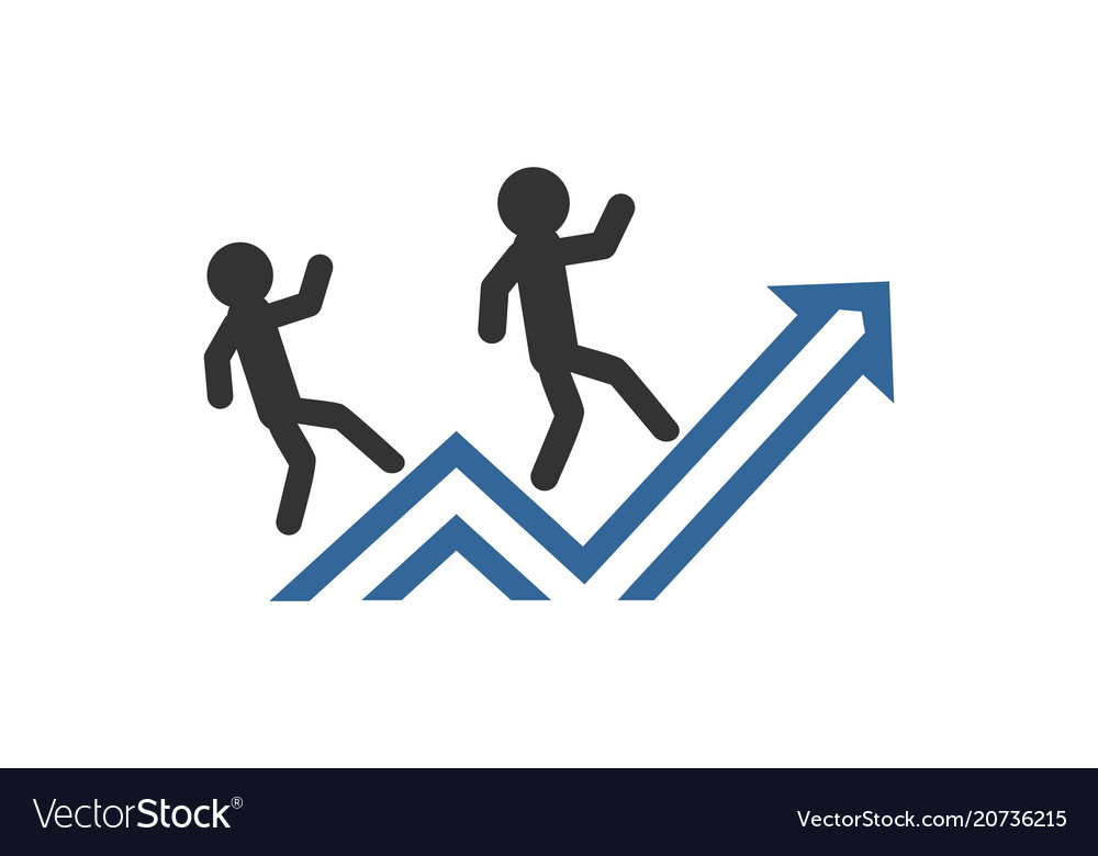 Business people success finance graph office vect
