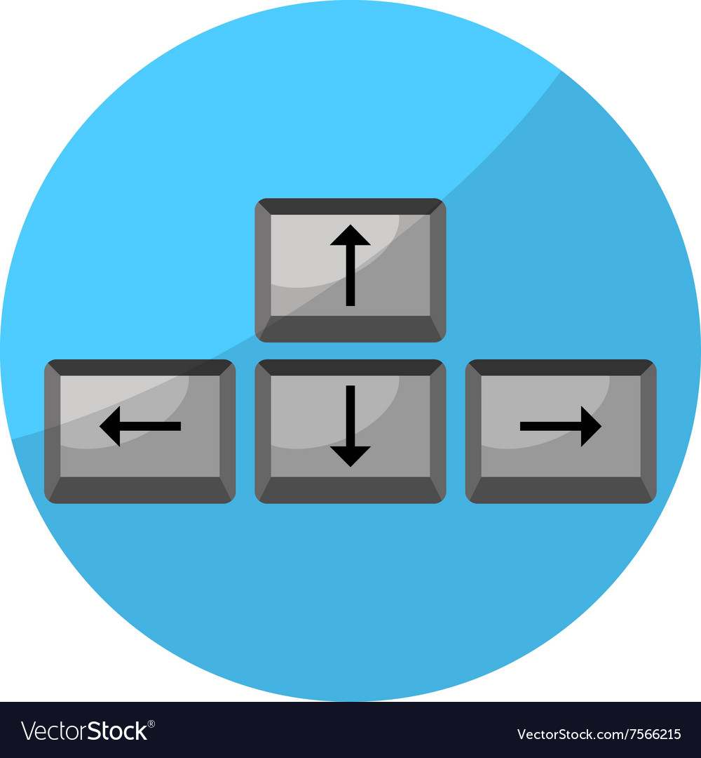 Button Arrow Game Keyboard Royalty Free Vector Image