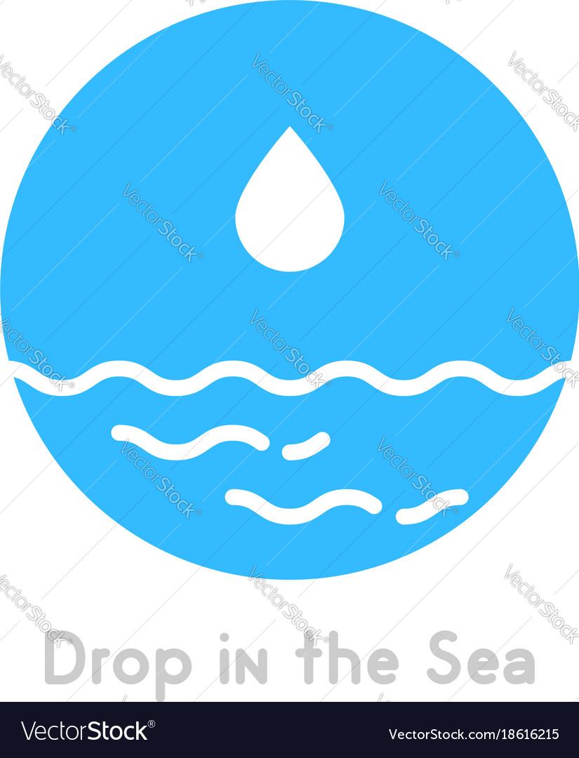 Drop in the sea simple logo