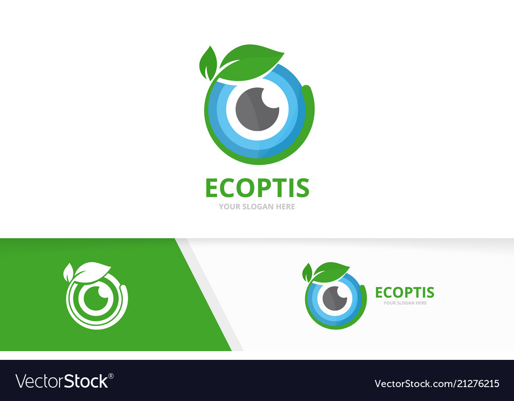 Eye and leaf logo combination optic and