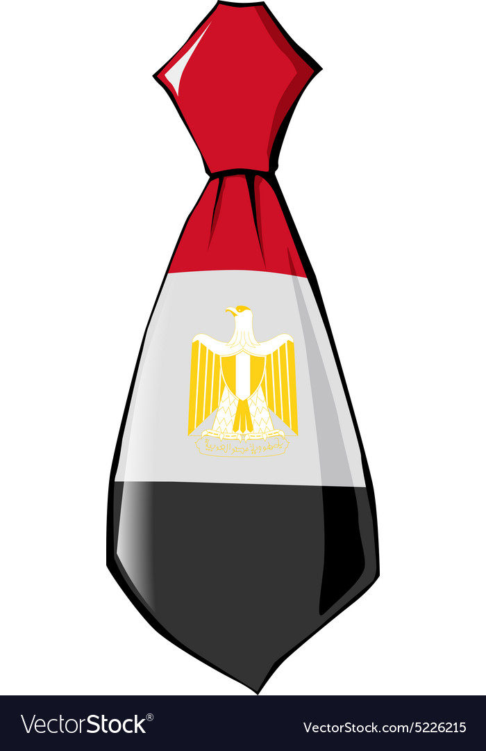Necktie In National Colours Of Egypt Royalty Free Vector