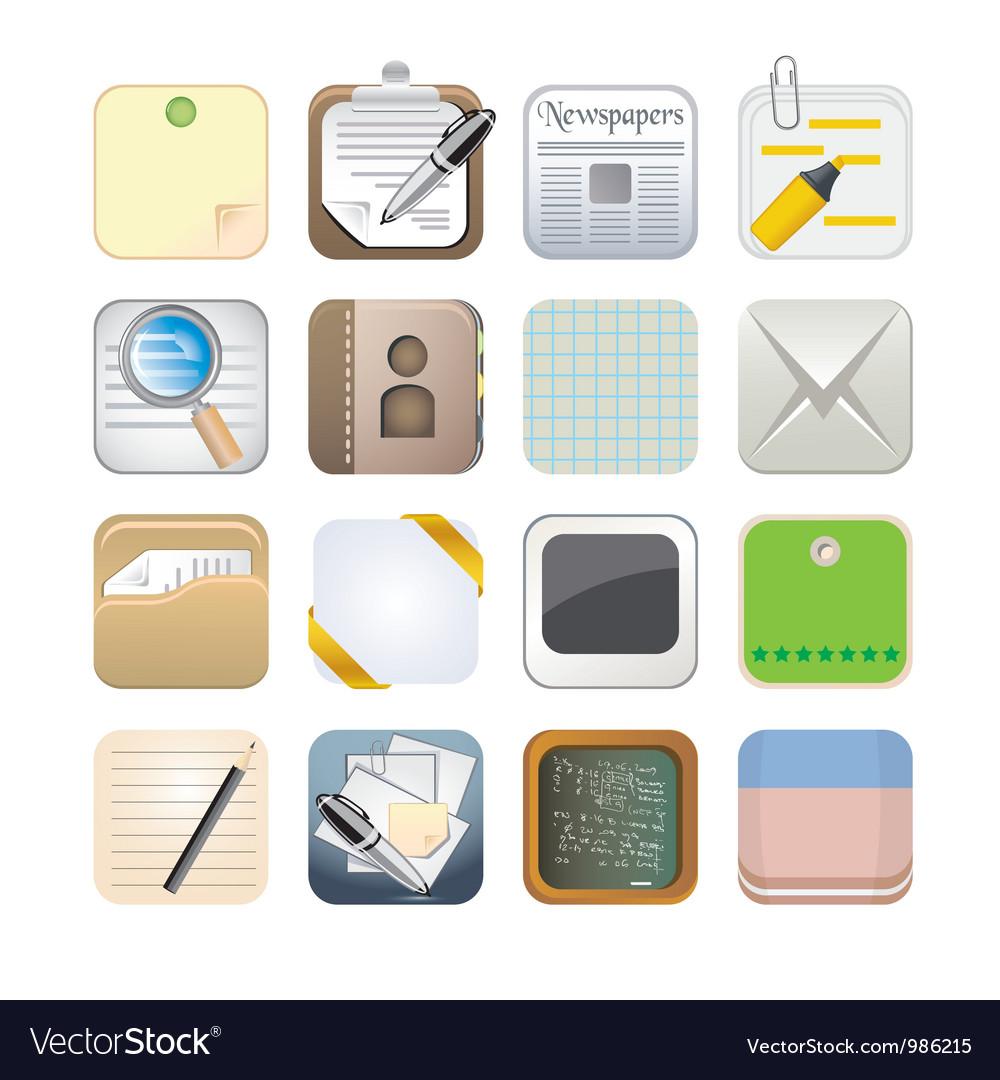 Paper app icon set