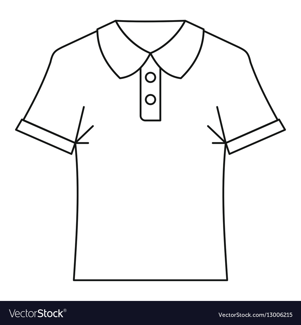 036c0b6c312b9 Polo shirt icon outline style Royalty Free Vector Image