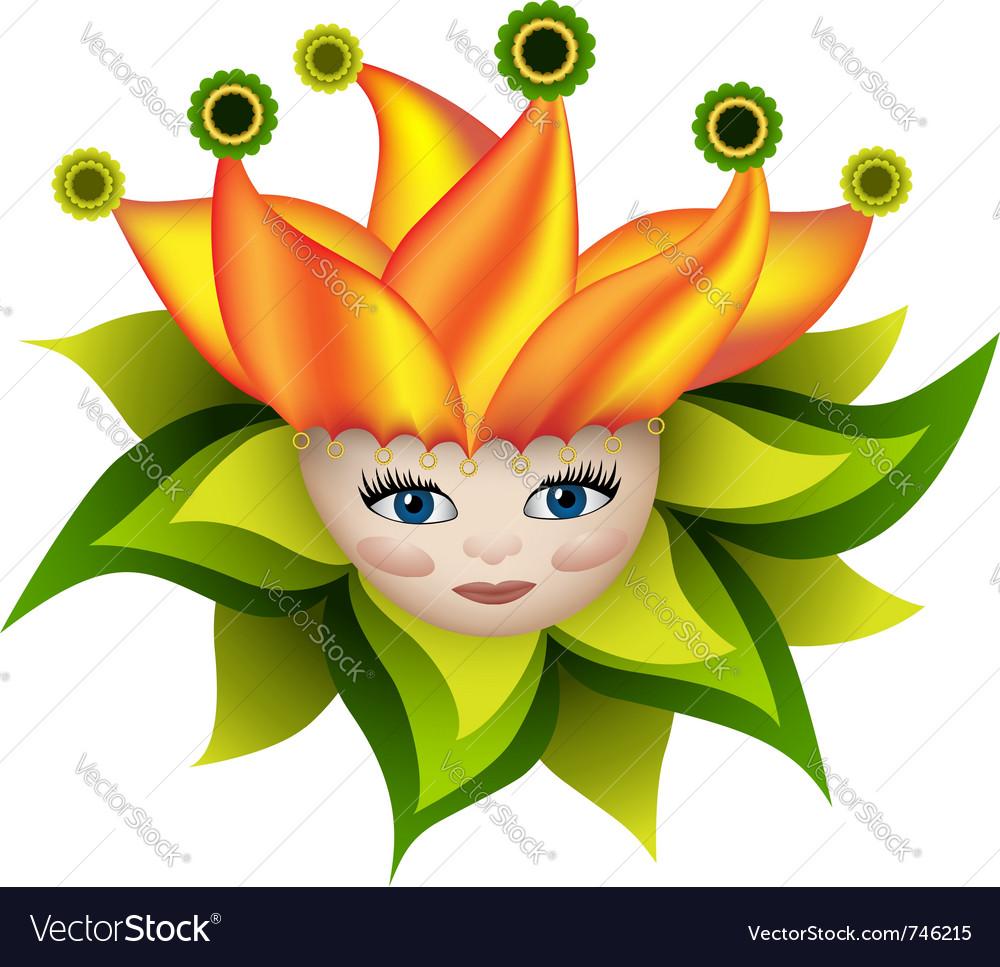 Sunny elf boy vector image