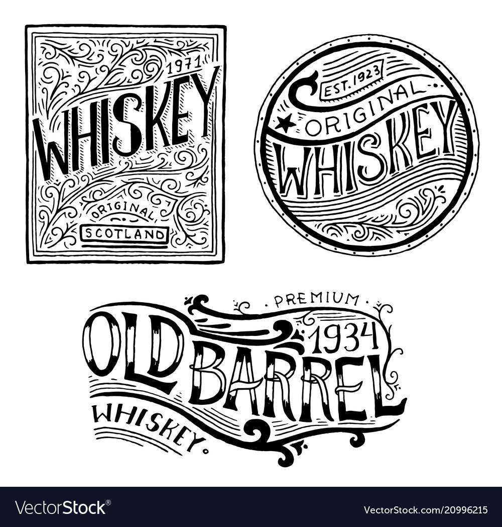 Vintage american whiskey badge alcoholic label