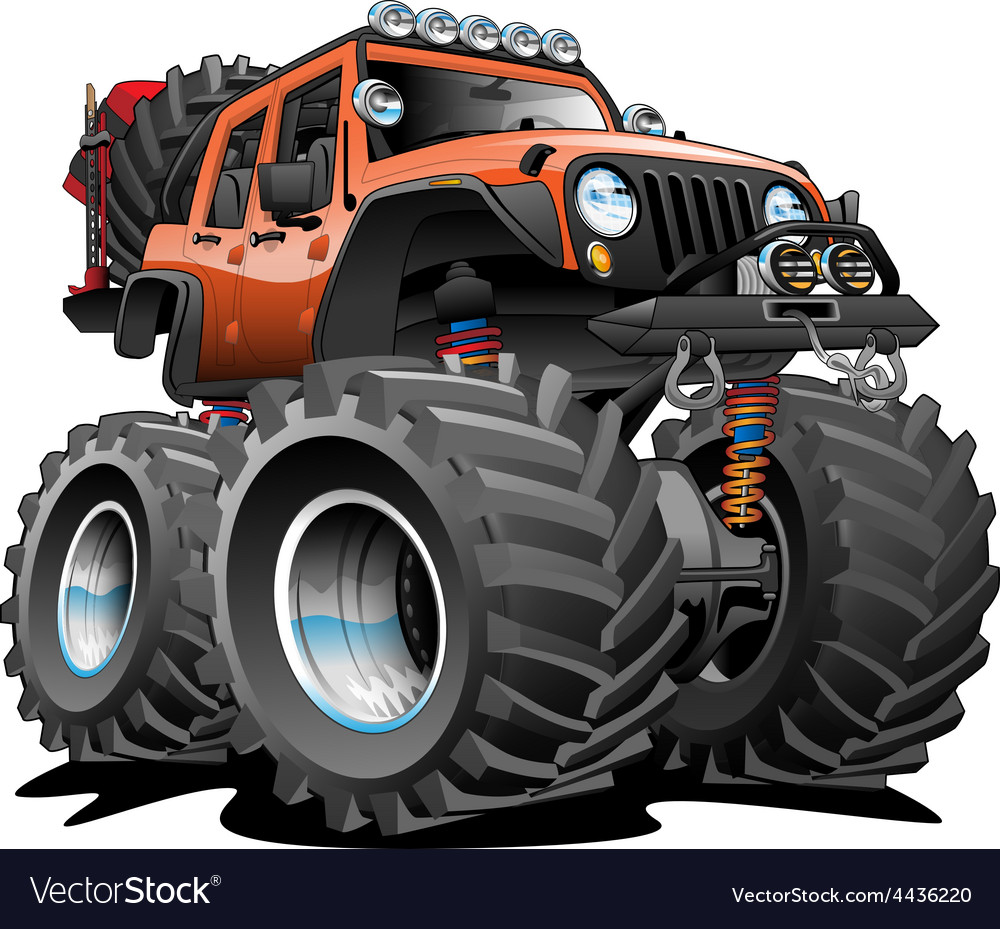 4X4 Off Road >> 4x4 Off Road Vehicle Cartoon Royalty Free Vector Image