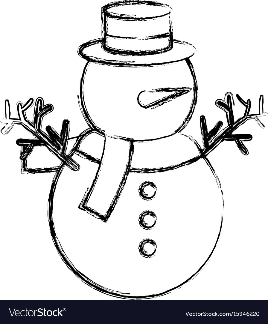 Cute christmas snowman character