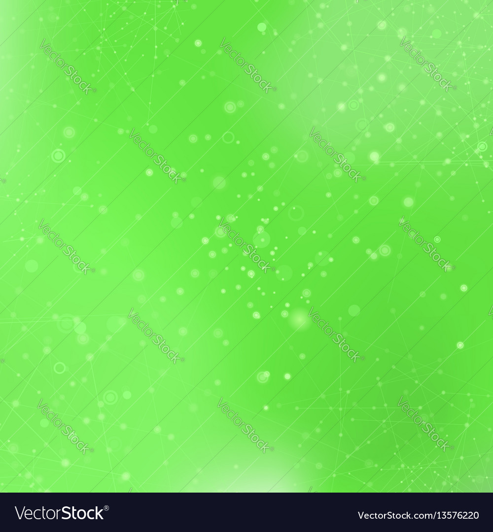 Green technology background with particle vector image