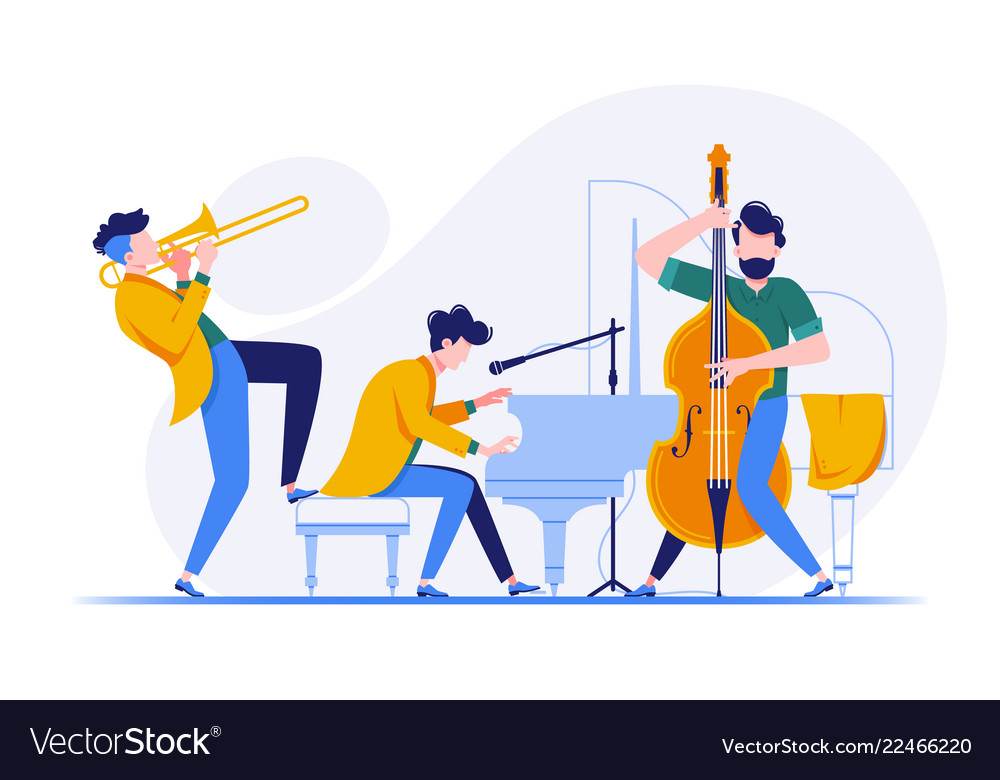 Group of musicians playing classical instruments