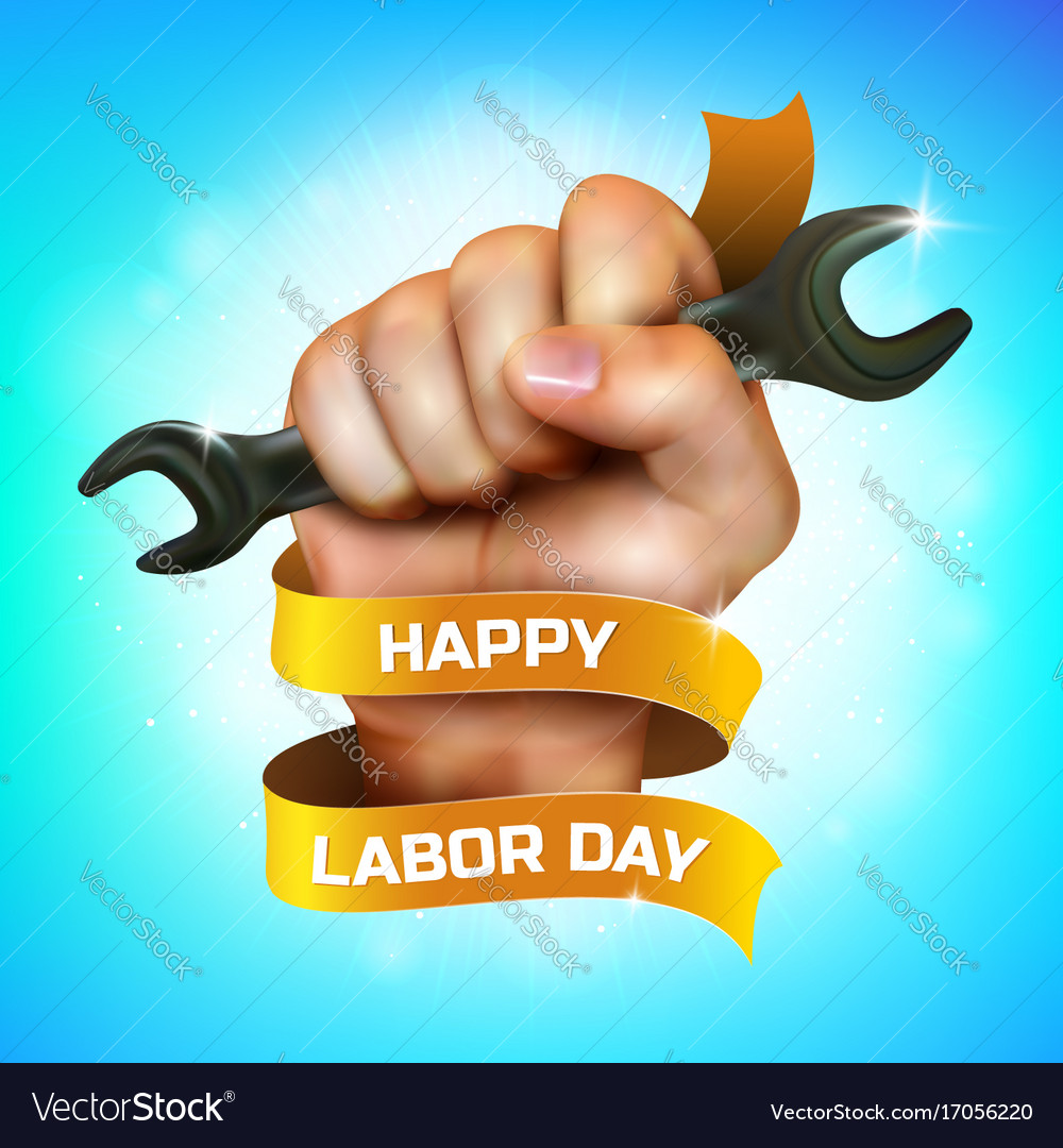 Happy labor day greeting card or banner design