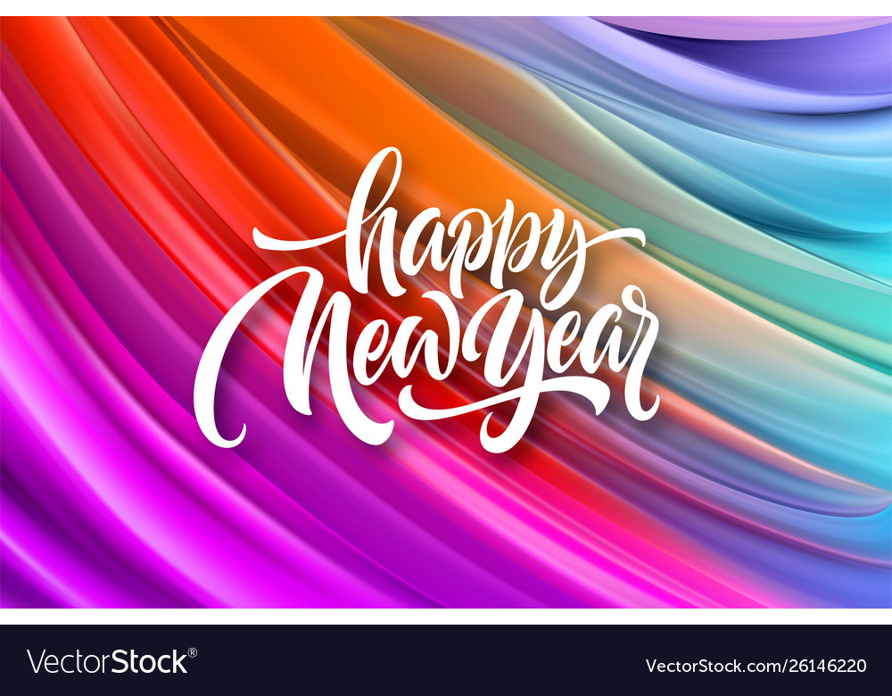 Happy new year 2020 lettering greeting
