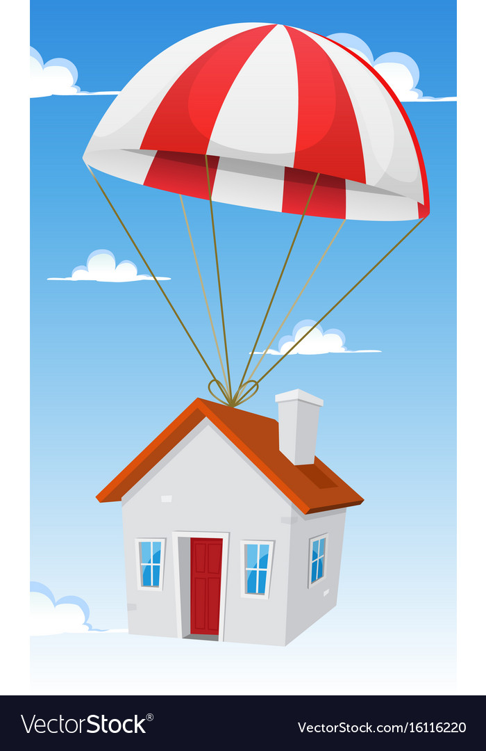 House by airmail shipping delivery vector image