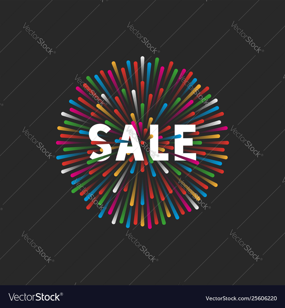 Multicolored fireworks lights with text sale
