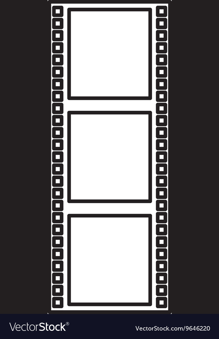 Tape roll cinema isolated icon design