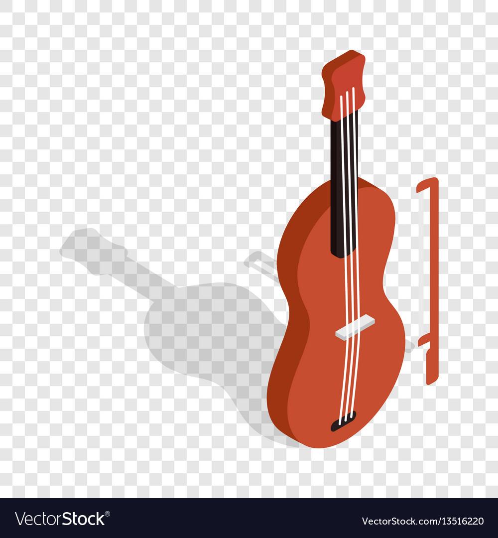 Violin isometric icon