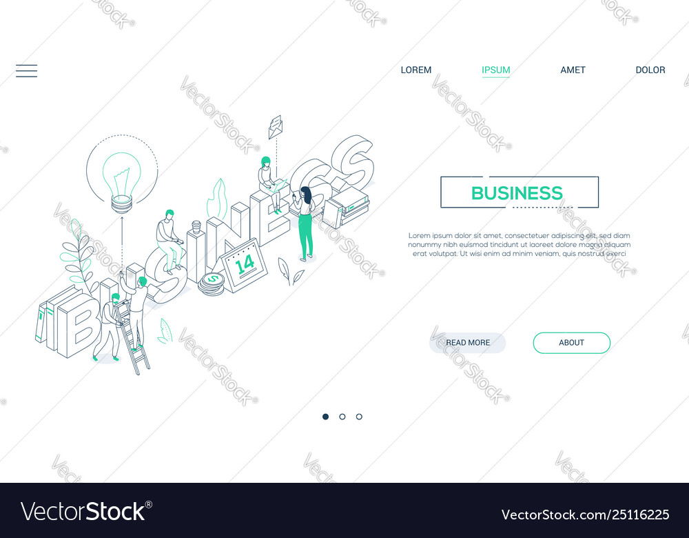 Business and finance - line design style isometric
