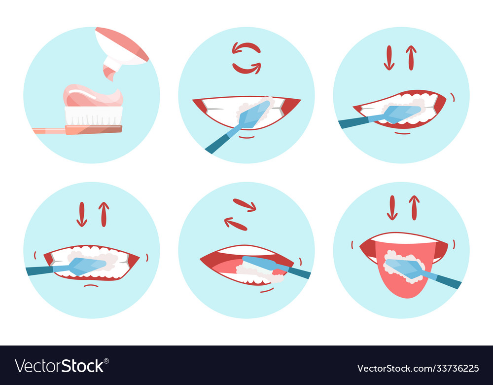 Collection clean teeths images dental