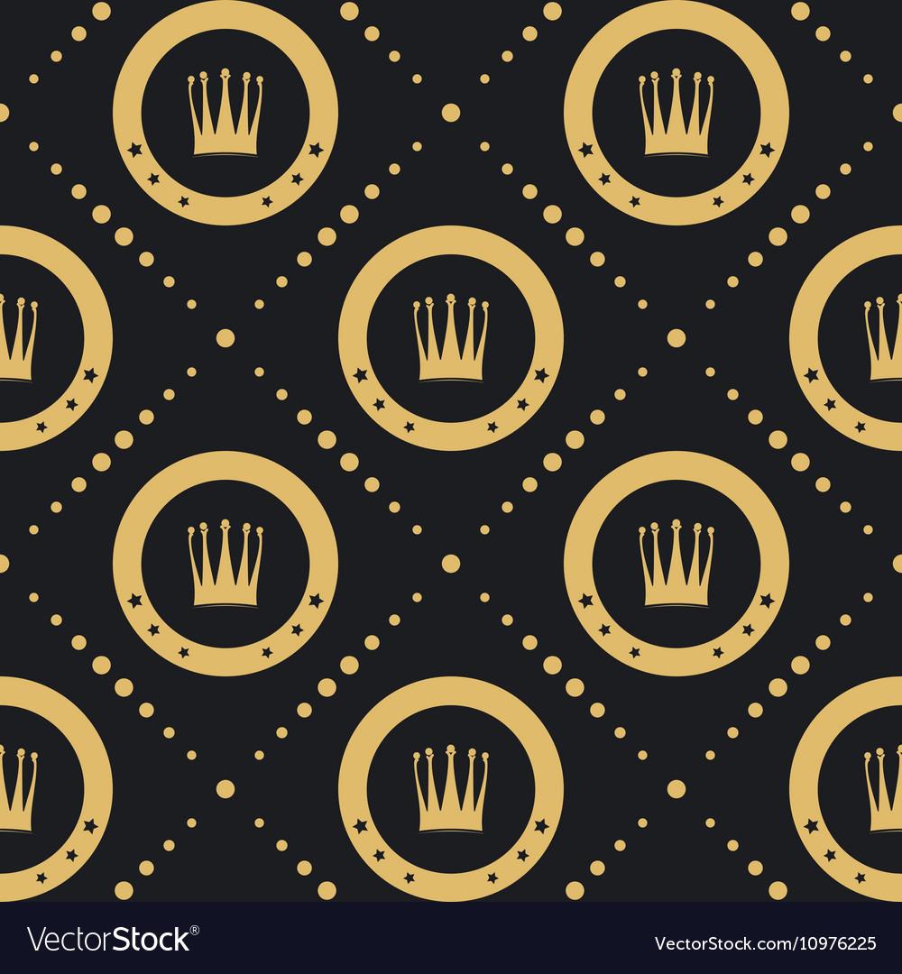 Crown golden pattern seamless