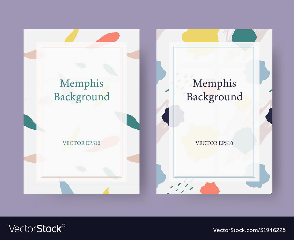 Memphis style card background template
