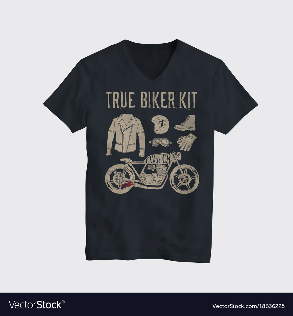 d2a7c345 Motorcycle t-shirt design Royalty Free Vector Image