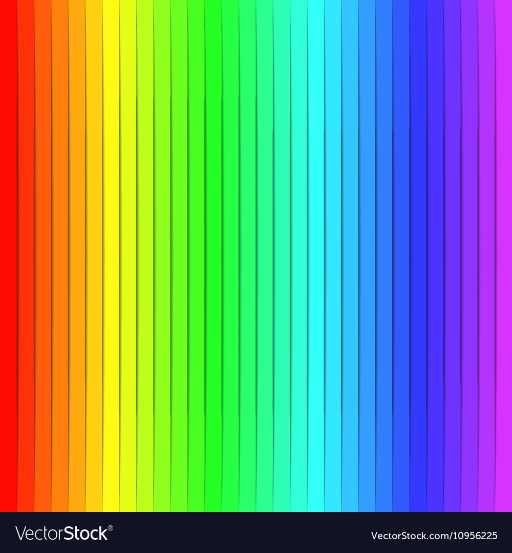 rainbow color background or wallpaper vector image - Rainbow Color