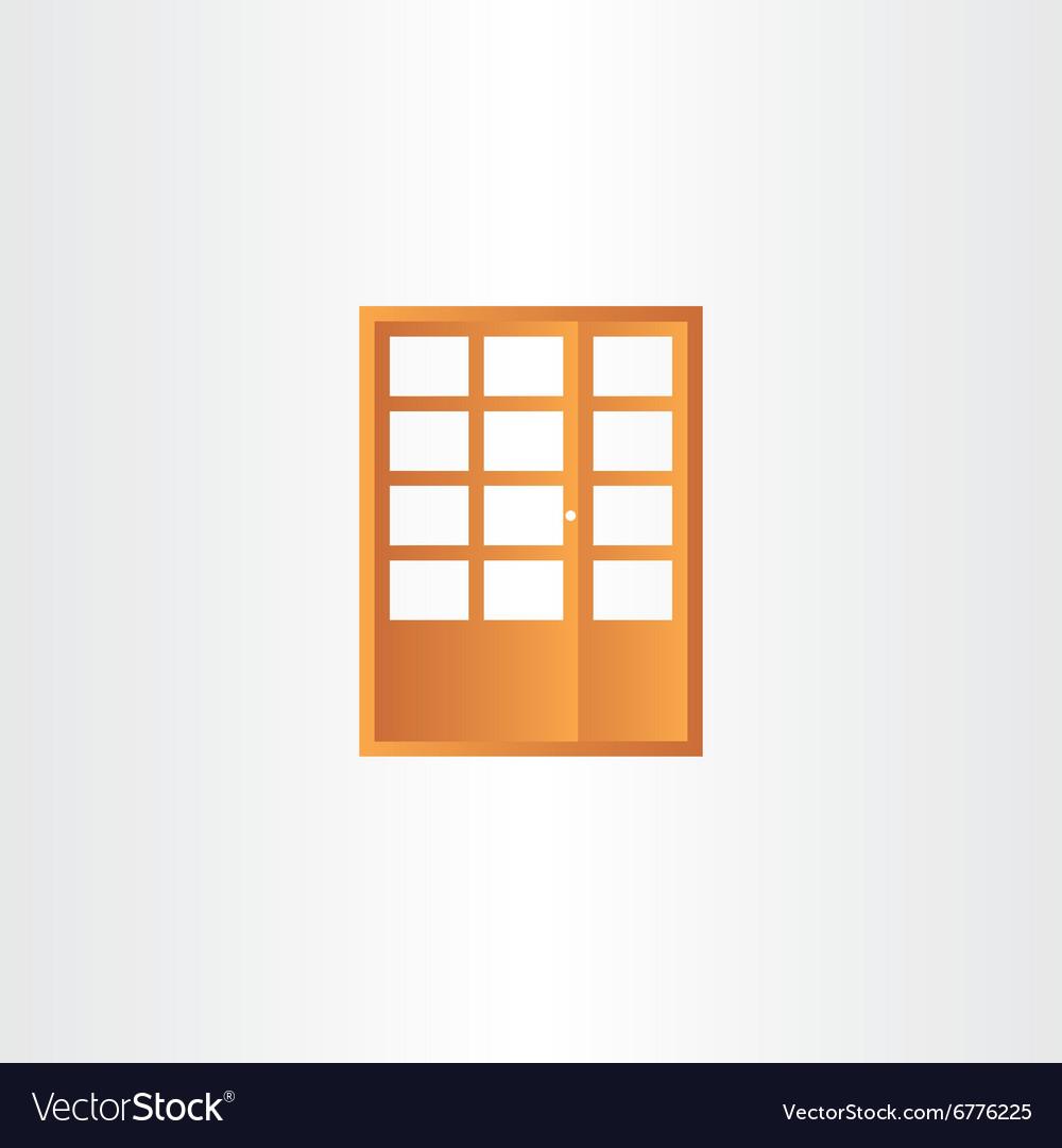 Wooden door design element