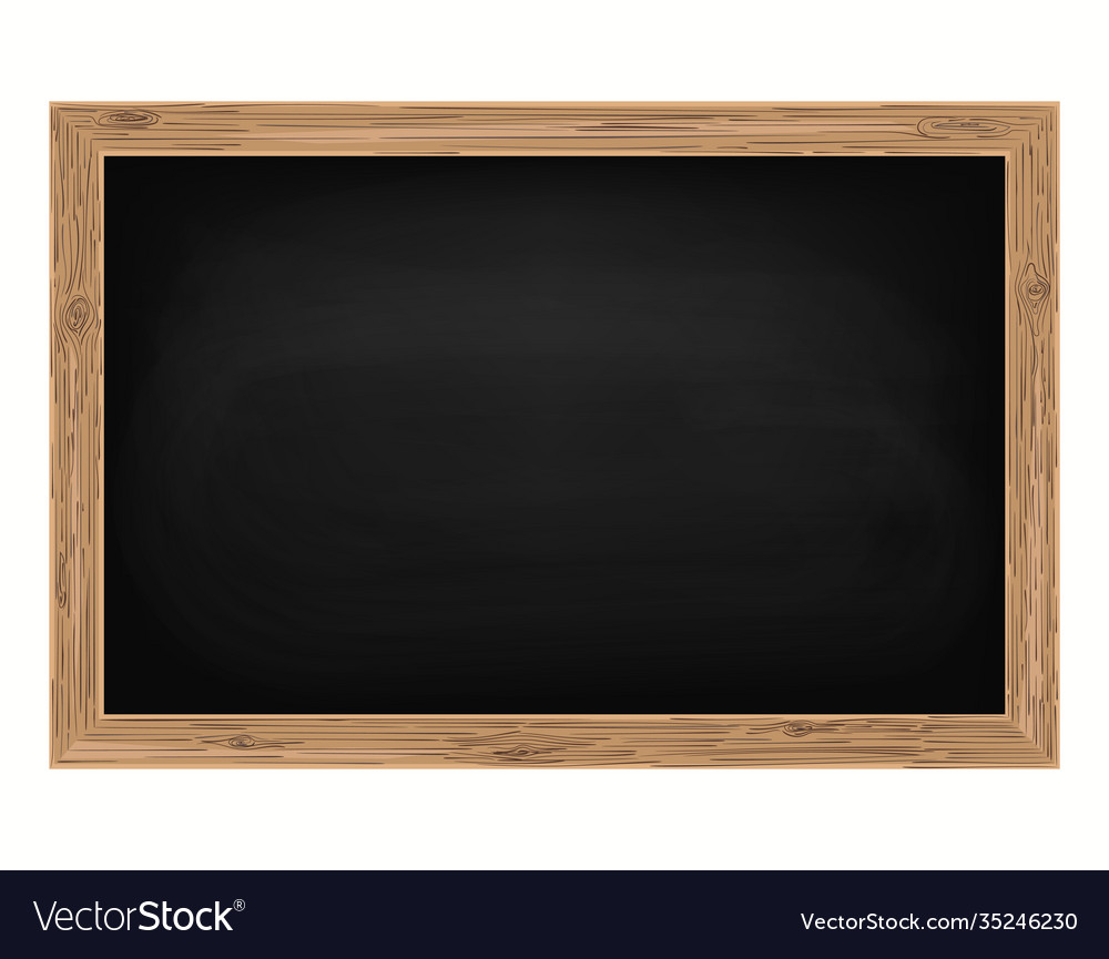 Blackboard background and wooden frame rubbed out