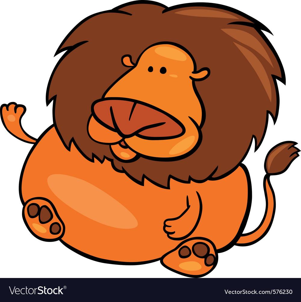 cartoon of leo zodiac sign royalty free vector image