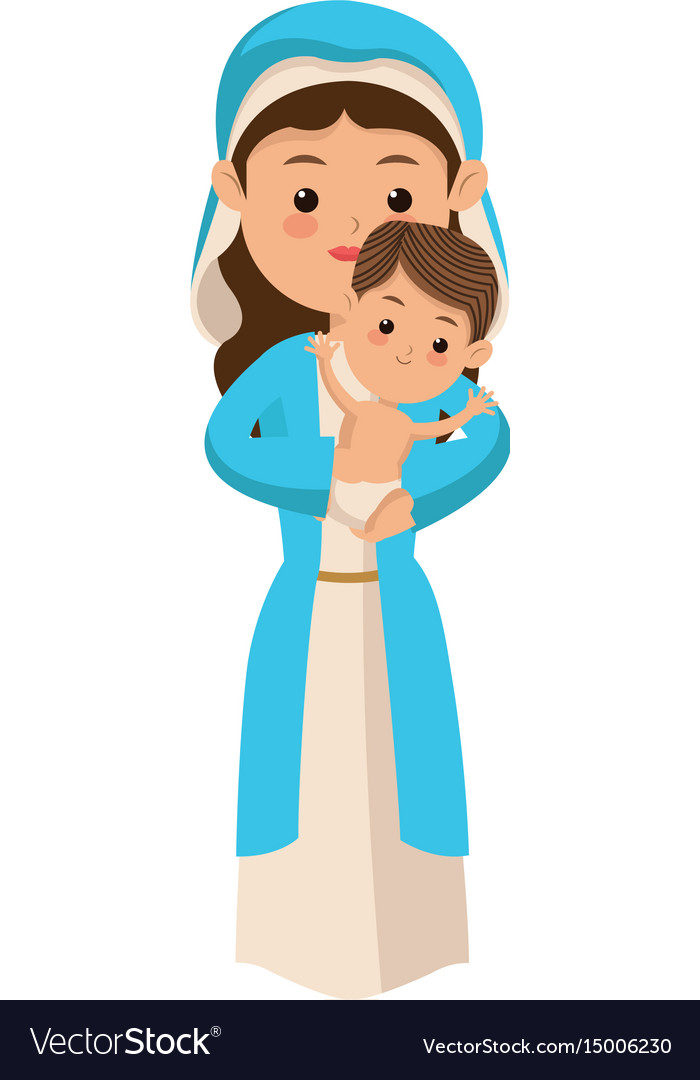Holy Family - Mary Joseph And Baby Jesus Clipart - Free Transparent PNG Clipart  Images Download