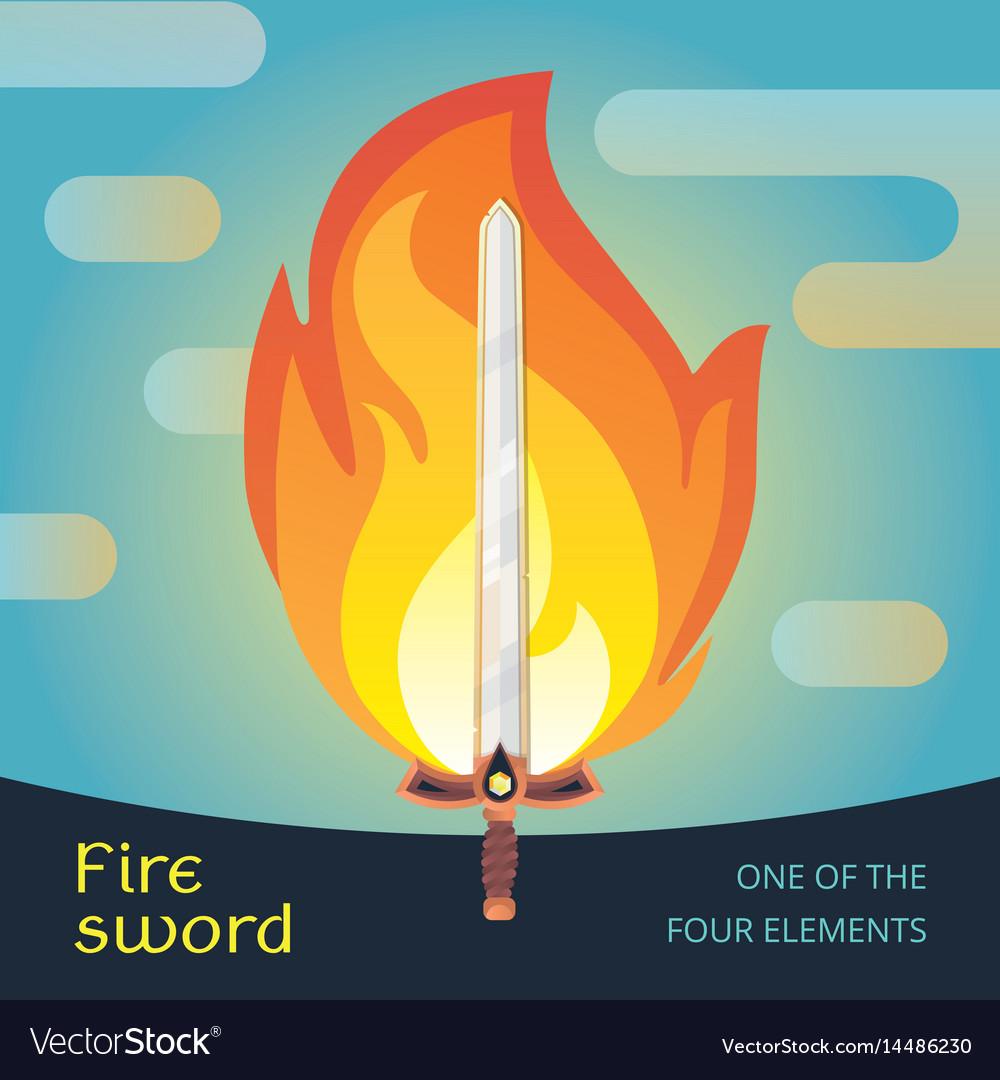 Fire sword flat