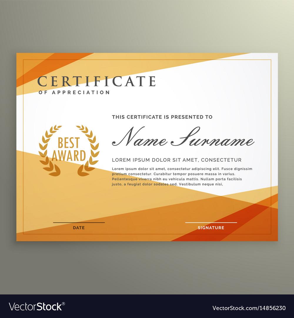 geometric certificate design template vector image