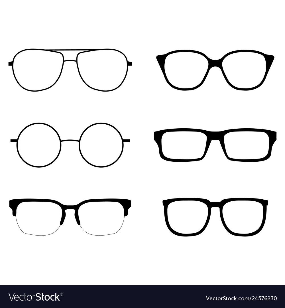 Glasses icons set