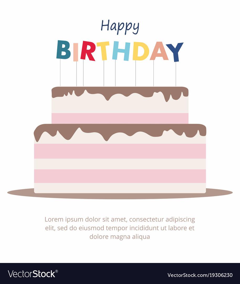 Happy birthday cake card birthday party elements