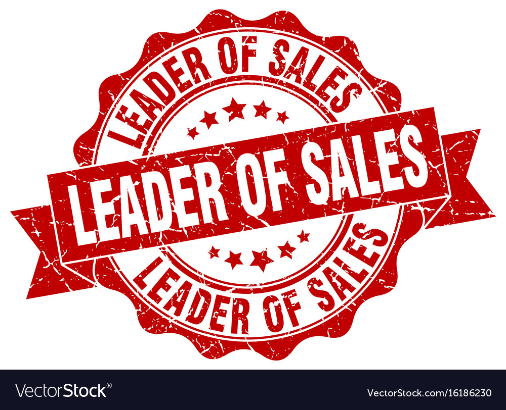 Leader of sales stamp sign seal vector image on VectorStock