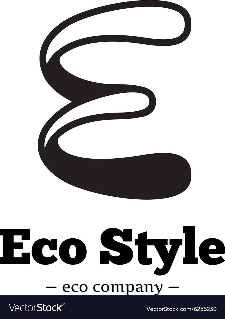 Modern black and white E letter logo