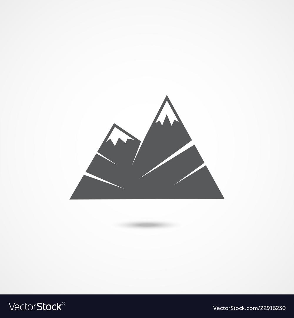Mountain flat icon