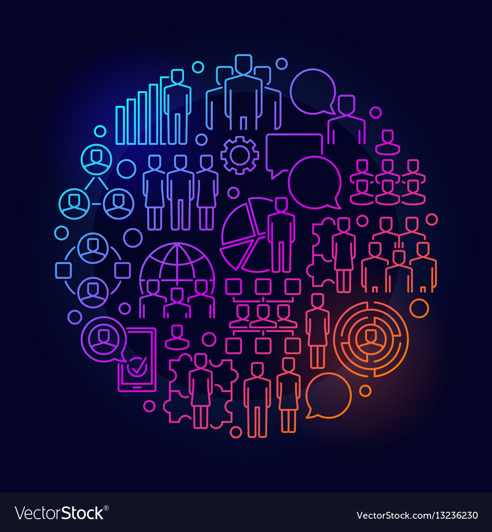 Team round colorful
