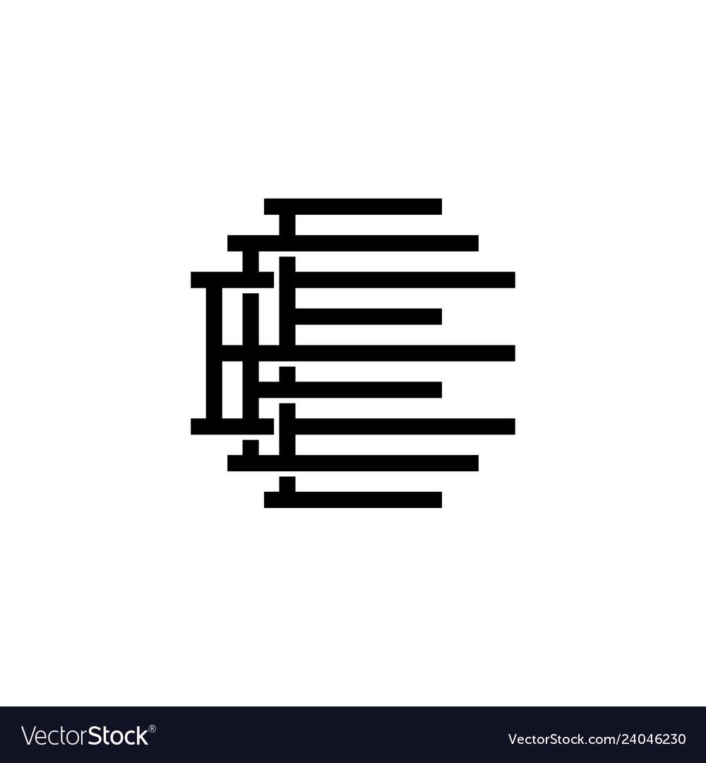 Triple e monogram eee letter hipster lettermark