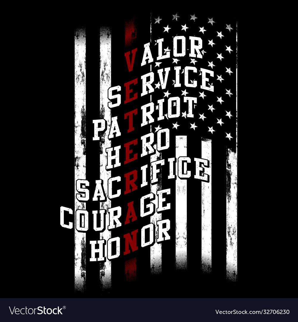 Veteran text flag