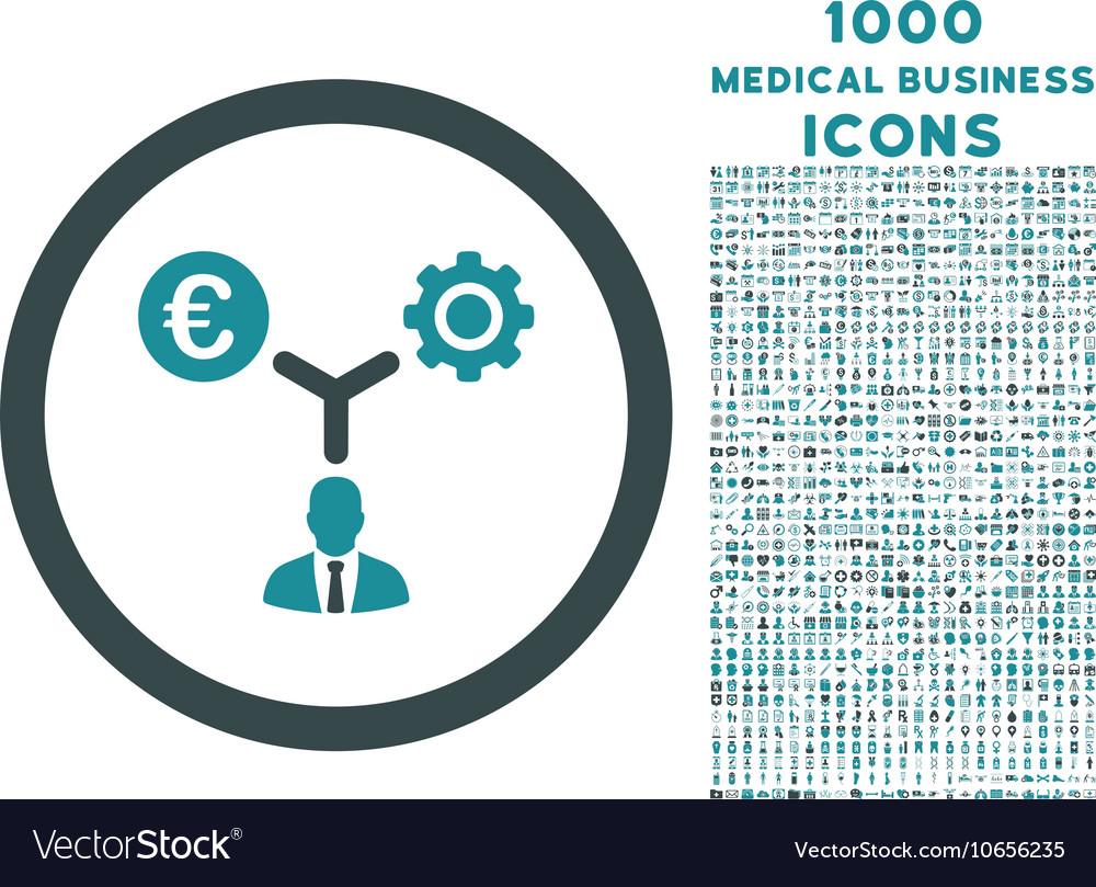 Euro Financial Development Rounded Icon with 1000