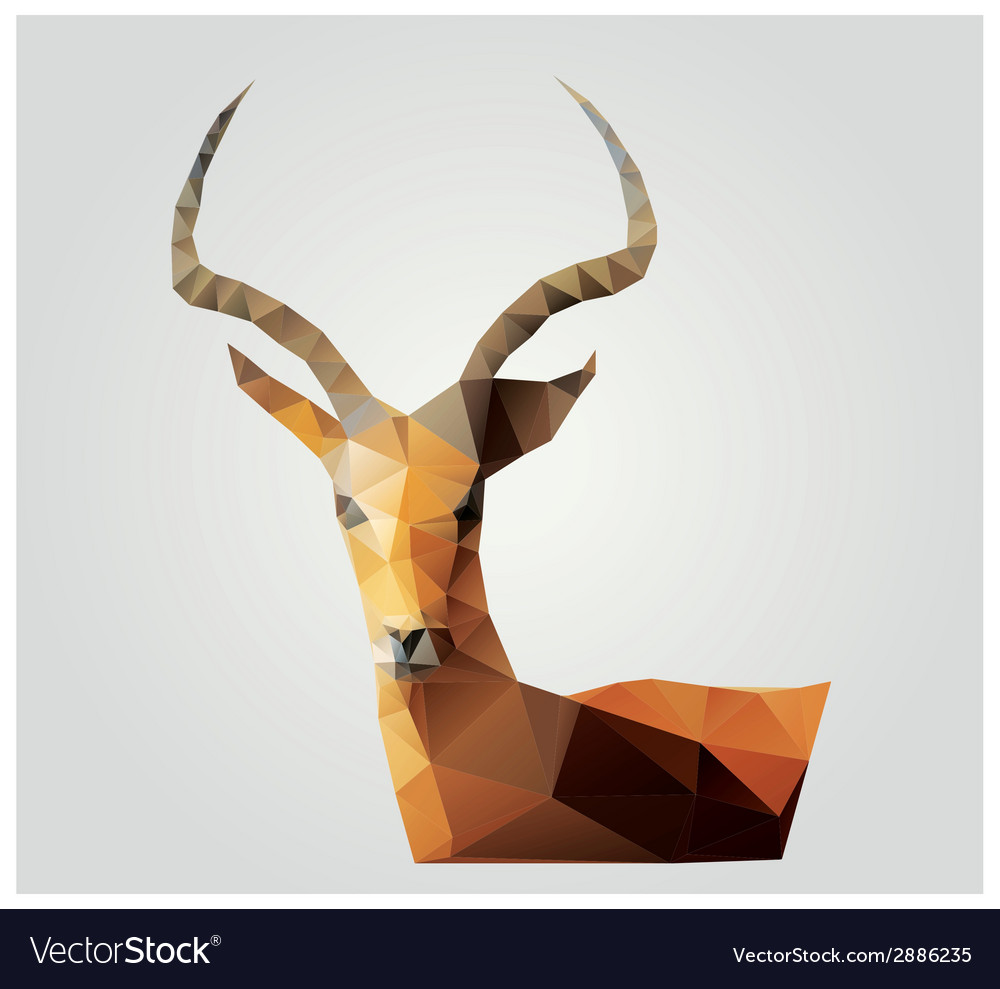 Geometric polygon antelope triangle pattern design vector image