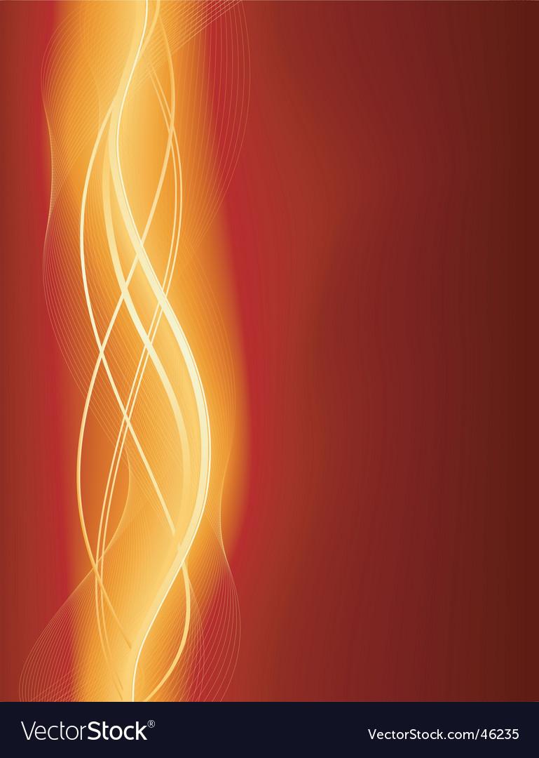 Glowing wave vector image